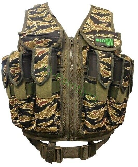 Paintball Tactical Gilet 9 Pötte hp Magfed Tigre Stripe