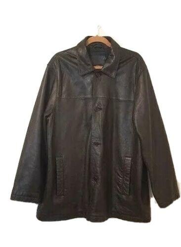 Coach Mens Sz L Black Lambs Leather Coat 1941 Butt