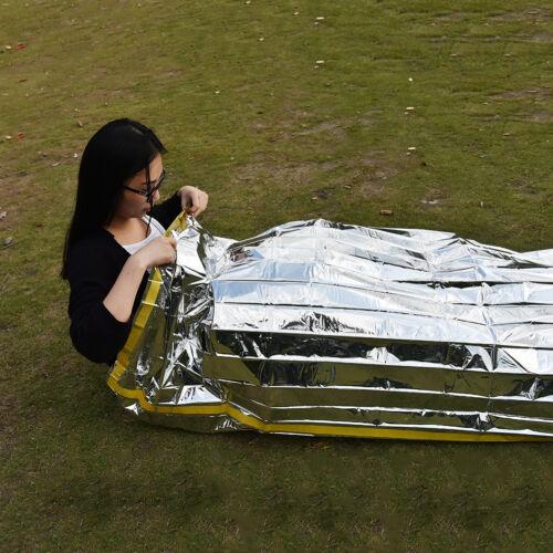 Emergency Survival Outdoor Kit Rescue Thermal Space Sleeping Bag Blanket FO