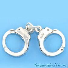 Police Charm Police Handcuffs Sterling Silver Pendant Sterling Silver Charm Handcuffs Charm PS31109