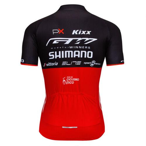 Men/'s Red Black Cycling Jersey Bib Shorts Kits Short Sleeve Shirt Pad shorts Set