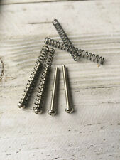 4 Pack of Humbucker Pickup Mounting Screws With Springs Chrome Finish