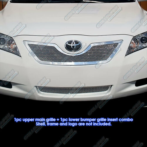 Fits 07-09 Toyota Camry Stainless Steel Mesh Grille Combo