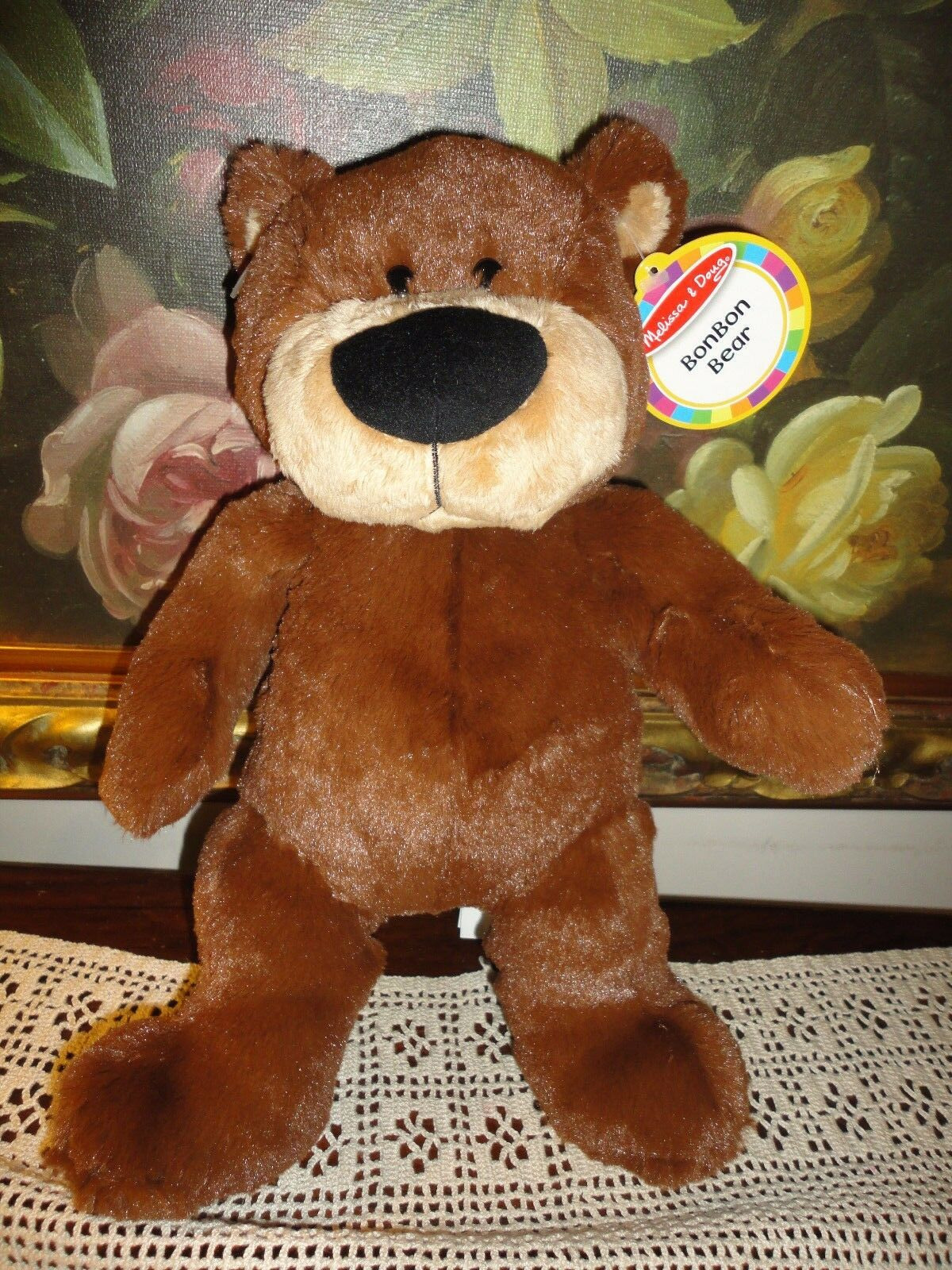 Melissa & Doug BonBon Bear Braun Soft Plush All Ages 14 inch NEW w Tags