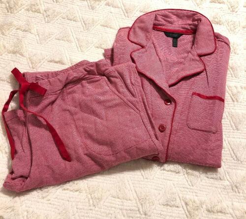 Soma Intimates Womens Pajama Set Pinstripe LS Ravi