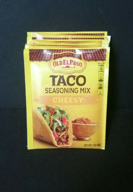 10 Old El Paso Taco Seasoning Cheesy Mix 1oz Packet 09 2021 For Sale Online