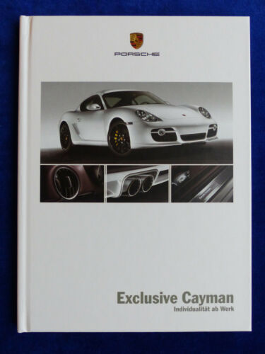 Exclusive Porsche Cayman S tipo 987c-Hardcover prospetto brochure 06.2007