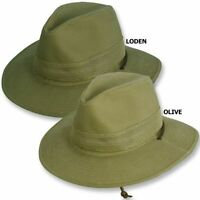 Dobbs Safari Master Hat Vented Mesh Crown Cotton Twill Chin Strap Icey Pocket