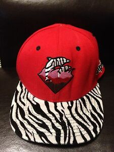 Pink Dolphin Embroidered Hat Red Black White Zebra Adjustable Back ... e07d107873a8
