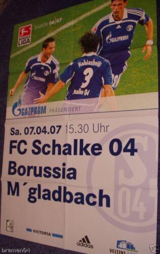 Schalke vs Plakat Poster Mönchengladbach 07.04.07