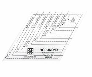 60 diamond shape acrylic quilting template 70659508363 ebay