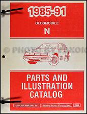 1988-1990-1991 Oldsmobile Cutlass Calais Original Illustrated Master Catalog