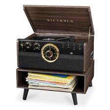 Victrola 6-in - 1 木藍牙世紀中期唱片播放器 3 速轉盤帶