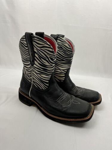 Ariat women's boots Women's 7.5 B Zebra Print Cowg