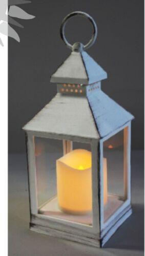 Laterne aus Kunststoff mit LED Kerze Grablicht Friedhof Licht