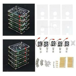 Acrylic Clear Case Box 6 Layer Enclosure for Raspberry Pi 2 3 Model B B+