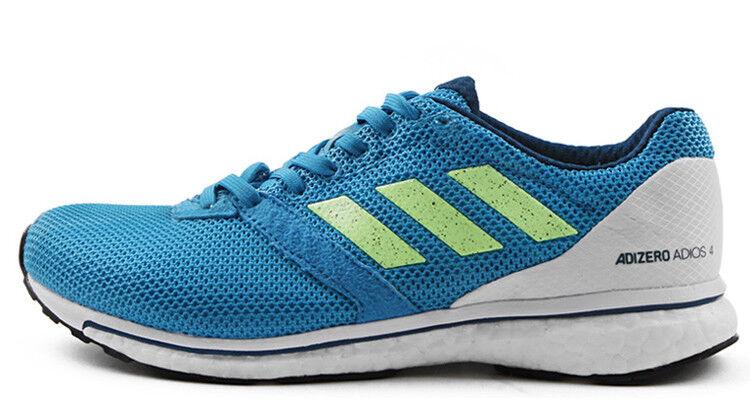 Adidas Adizero Adios 4 Boost Mens Running shoes - bluee B37309