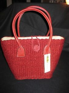Asas De Nuevo Sisal Fairtrade Bag Genuino Produced Cuero Con Shopping xXpHwq