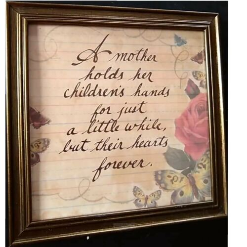A Mother Holds Her Children/'s Hands For Just A Little While Calligraphy Print