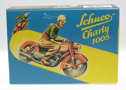 """Schuco Moto lamiera /""""Charly 1005/"""" VERDE # 450198600"""