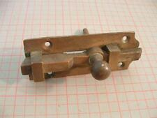 Original Reclaimed Antique Loo Door  Heavy Duty Brass Slide Bolt Lock