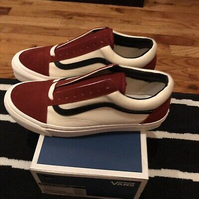 DEADSTOCK Vans Vault OG Old Skool LX Red Dahlia SZ 10 BRAND NEW | eBay