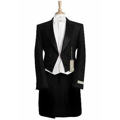 MENS BLACK EVENING WHITE TIE TAILS MANSION HOUSE ORCHESTRA DRESS TAILCOAT