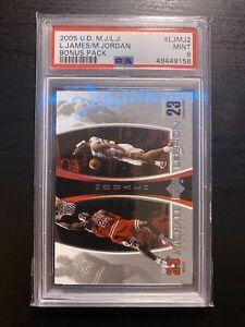 2005 Upper Deck MJ LJ Bonus Pack LeBron James Michael Jordan #LJMJ2 PSA 9 MINT.
