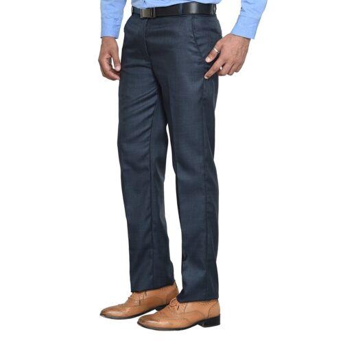 Mens Solid Slim Fit Skinny Elastic Suit Pants Formal Dress Pant Trousers