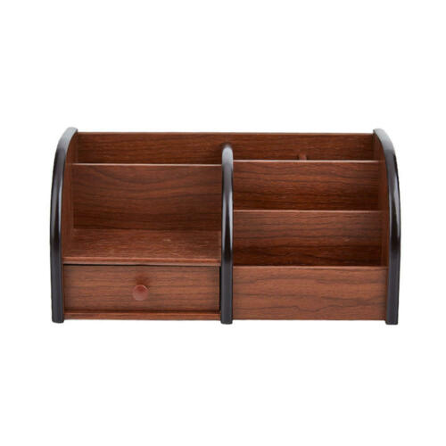 Moustache® Wooden Desktop Organizer with Drawer and 5 Compartments