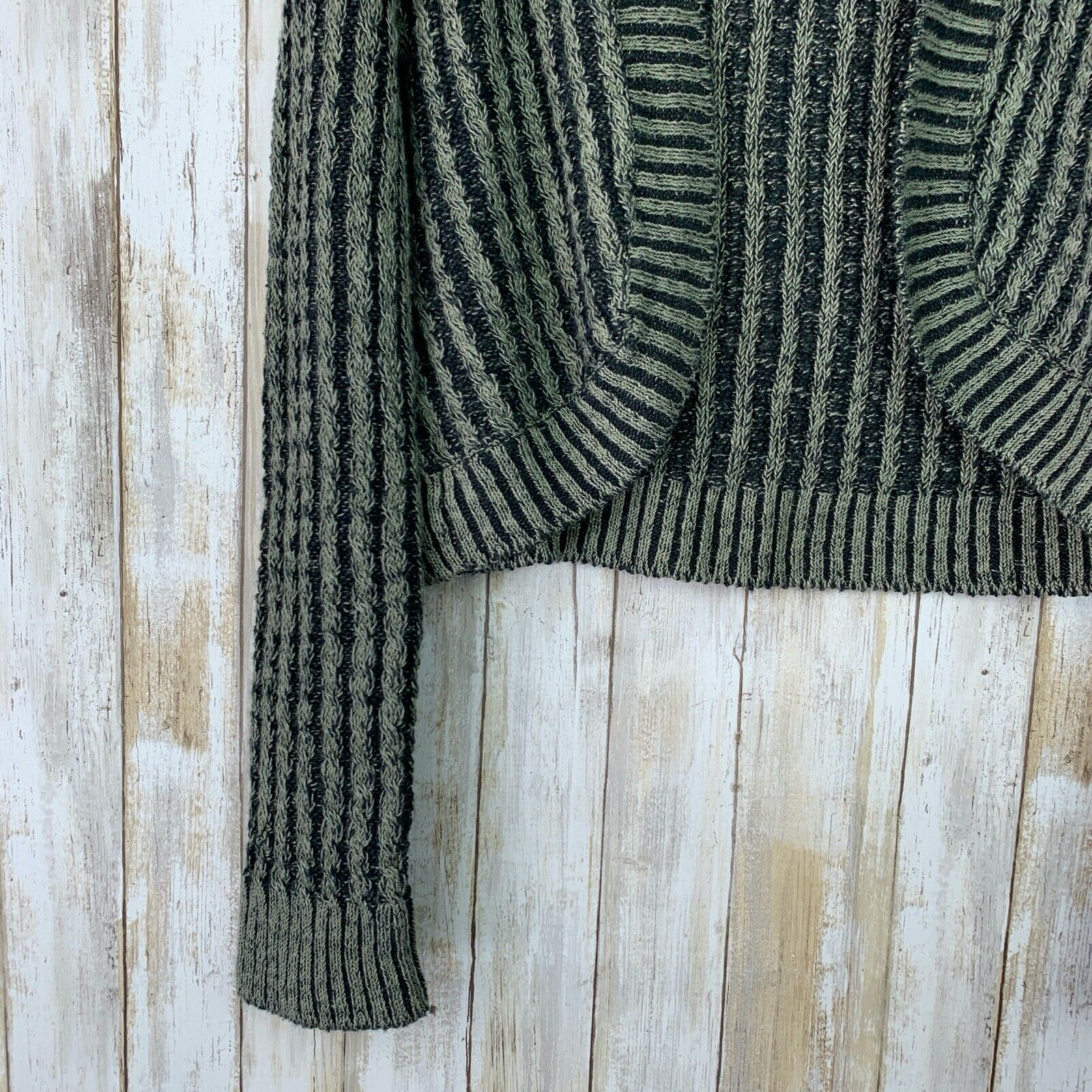 Inis Meain Linen Loose Knit Open Sweater Green Gr… - image 3