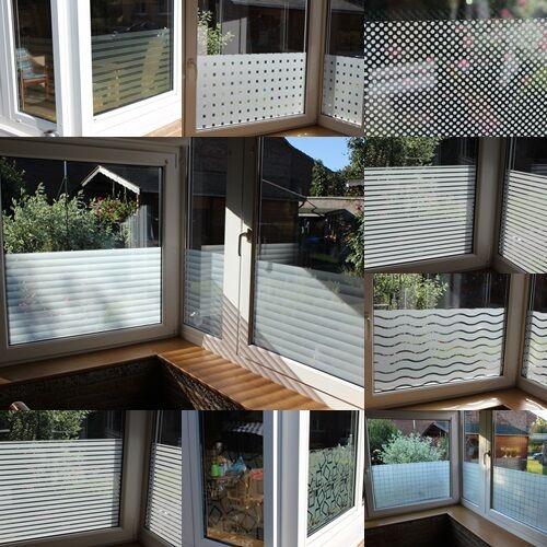 m² Premium Milchglas Folie Fenster  Sichtschutz Folie Selbstklebend
