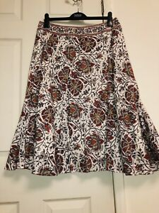 0be34f2071 Anokhi For East Block Pront Artisan Flayed Circle Skirt Size-14 New ...