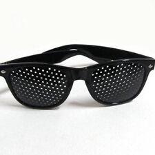 Schwarz Eyewear Lochkamera Brille Training Sehvermögen Verbesserung Vision
