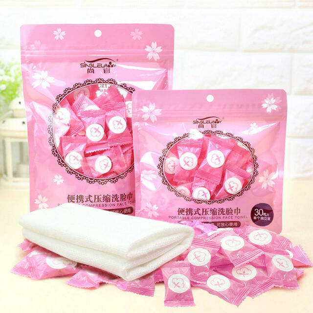 50pcs Magic Disposable Compressed Face Towel Travel Nonwoven Towel Useful Hot