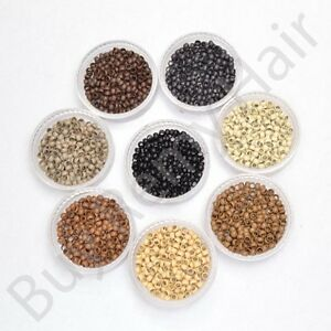 50-100-200-300-400-1000-Silicone-Lined-Nano-Rings-Micro-Beads-Hair-Extensions-UK