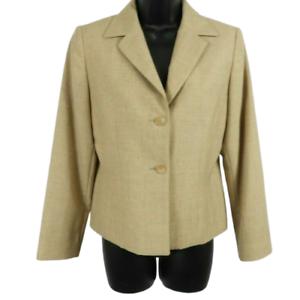NWT-Pendleton-Tan-100-Wool-Button-Front-Blazer-Jacket-Women-039-s-Petite-Size-6P