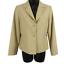 NWT-Pendleton-Tan-100-Wool-Button-Front-Blazer-Jacket-Women-039-s-Petite-Size-6P miniatuur 1