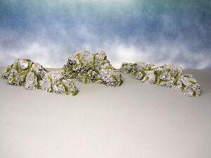 Model-Railroad-Scenery-Train-Granite-Outcrops-Painted-Resin-Ho-scale-N-scale-O