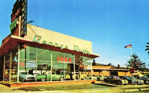 George Duffy Chrysler-Plymouth Auto Dealership Old Photo 1953-4