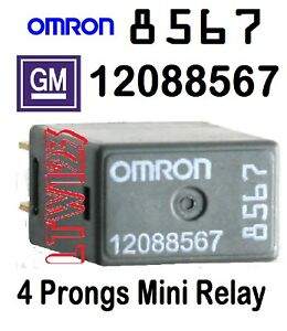New Relay 12088567 Daytime Ecm Flashers Strater Ignition Horn For Omron GMC Gm