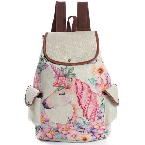 Kids Girls Women Unicorn Backpack Rucksack School Outdoor Shoulder Bag Satchel