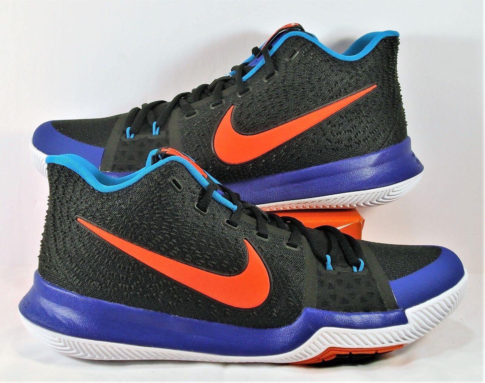 Nike Kyrie 3 III Kyrache Black & Team Orange & Concord Sz 10.5 NEW 852395 007