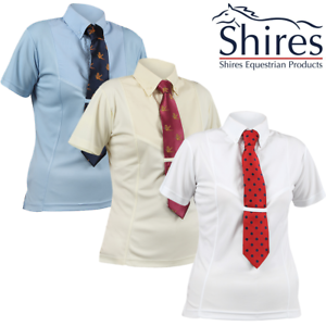 Shires Air Dri Short Sleeve Tie Shirt