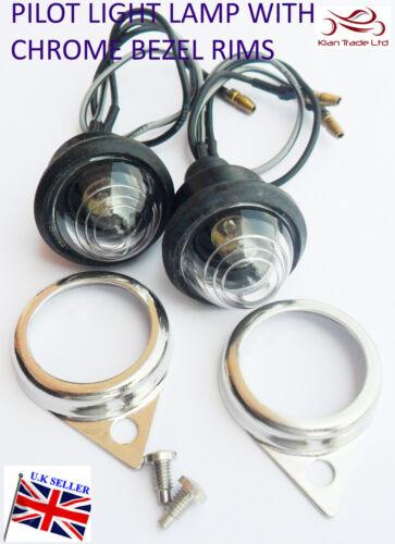 Royal Enfield Rechange Transparent Voyants de Contrôle avec Ampoules Chromé