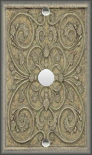 Grey Tan French Design Home Decor Grey Tan Metal Light Switch Plate Cover