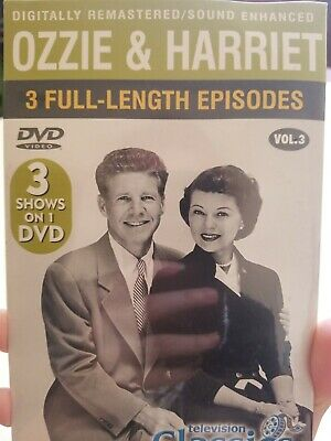 Ozzie And Harriet Tv Show Dvd 1952 1966 3 Full Episodes In Black And White Ebay