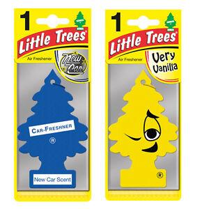 2 x Magic Tree Little Trees Car Air Freshener Scent NEW CAR + VERY VANILLA