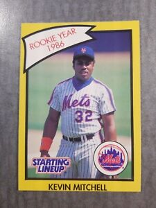 Kevin Mitchell New York Mets 1989 Starting Lineup R.O.Y. Kenner Baseball Card