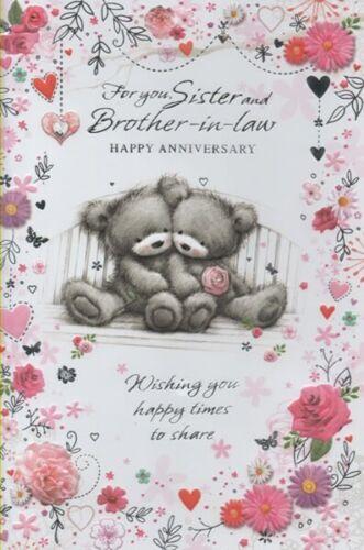 Para usted hermana y hermano-in-Law Feliz Aniversario-Tarjeta De Aniversario